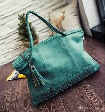 2017 high quality women suede leather handbags rivet women shoulder bags brand large size women tote punk style bags mn391 black handbags weekend bags from