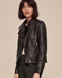 icon leather biker jacket women s clothing me em