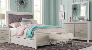 Teen Bedroom Furniture Collection Amelia White 5 Pc Full Panel Sets ...