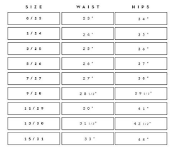 1 State Size Chart Kan Can Sizing Reference Rosie Daze Boutique