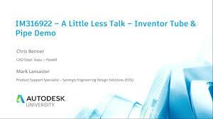 A Little less Talk - Inventor Professional Tube & <b>Pipe Demo</b> ...