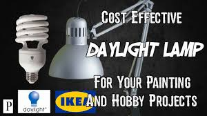how to make cost effective daylight lamps for painting and hobby projects you