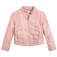 may faux leather jacket pink
