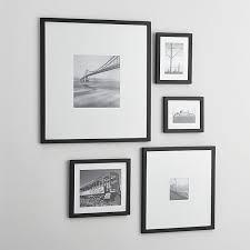 black picture frames. Shop 5-Piece Matte Black Picture Frame Set. Classic Wood Frames T