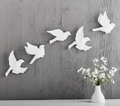 Paper Mache Bird Decor Set