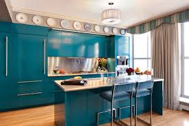 Blue Green Kitchen Cabinets 40 Bright Bold And Blue Colorful Kitchens Pics Of Painted