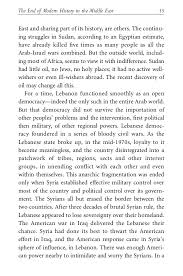 bernard lewis the end of modern history in the middle east a