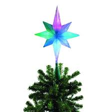brite star frosty star color changing led tree topper  frosty star color changing led tree topper
