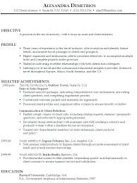 Strong Resume Objective Statements Sales Associate Resume Objective
