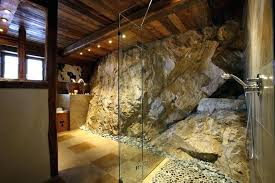 rustic stone bathroom designs. Stone Shower Rustic Bathroom Designs Massive Luxury Val  Chalet Design Cabin Ideas