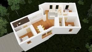 maison moderne à demi niveau