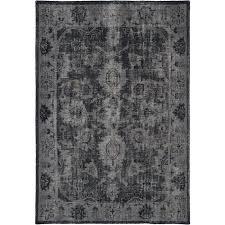 4 x 6 small vintage black area rug restoration