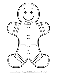 Small Picture Gingerbread Girl Coloring Page Seasonal Colouring Pages 3222