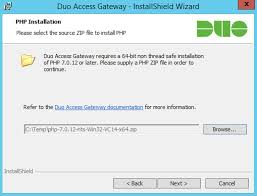 duo access gateway for windows duo security duo access gateway installation php