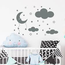 cloud wall decal moon and stars decals