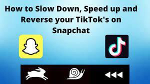 Reverse your TikTok on Snapchat