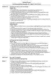 Electrical Test Engineer Resume Samples | Velvet Jobs