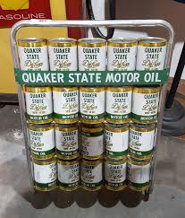 Quaker State Oil Rack W 20 Oil Can Banks