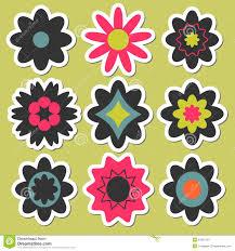 Sticker Design For Scrapbook Flower Stickers For Scrapbook Stock Vector Illustration Of