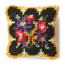Berlin Wool Work Charts Berlin Woolwork Dollhouse Needlepoint Cushion Kit