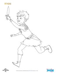 Coloriages Peter Pan Et Son P E Fr Hellokids Com