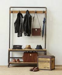 Storage Bench And Coat Rack Set