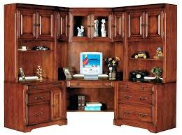 sauder office port office desk cherry corner desk and hutch office port executive desk in dark