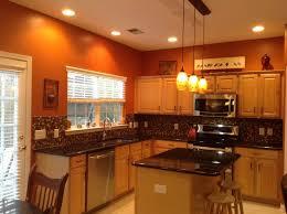 ideas burnt orange: burntorangekitchenideas burnt orange kitchen with new lighting