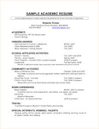 Sample Academic Resume Lovely Academic Resume