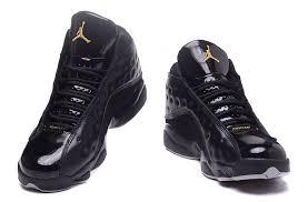 air jordan 13 kawhi leonard black gold patent leather