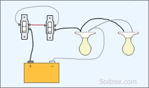 simple home electrical wiring diagrams sodzee com Switch Two Lights Wiring Diagram Each One three way switch with two lights Plug Wiring Diagram Two Lights One Switch One