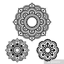 Fototapeta Vinylová Indický Henna Tetování Kolo Design Mehndi Vzor