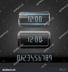 Futuristic Clock Futuristic Clock On Metal Background Stock Vector 86283850