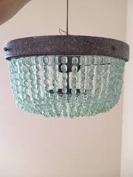 aqua turquoise beaded lighting fixture chandelier by illumehome