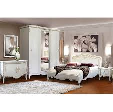 Antikes Bett Teresa Aus Eichenholz Massiv Farbe Weiß Mit