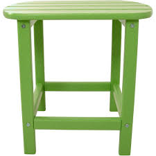 hanover lime all weather patio side table