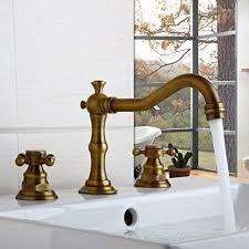 brushed brass bathroom faucet. 3 Holes Antique Brass Bath Basin\u0026 Bathtub Faucet Mixer Waterfall Ys-8678 Brushed Bathroom A