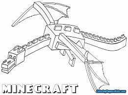First Rate Minecraft Colering Pages Free Coloring Ender Dragon For