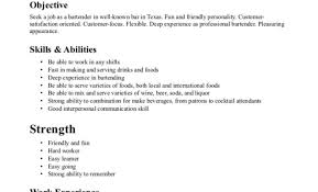Resume Beautiful Quick And Easy Resume Free Bartending Resumes