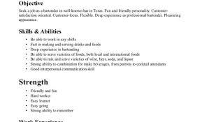 Bartender Resume Template Student Entry Level Bartender Resume