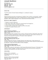 public relations and human resources resume examplespublic relations manager resume example