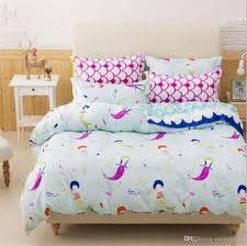 mermaid bedding set colourful bed linen set twin full queen king uk double size 3d duvet cover set kids bedclothes bed cover white king duvet cover