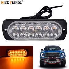Police Car Light Bar For Sale 1pcs Flashing Led Lights 12 Led Strobe Car Lights 12v Car Truck Motorcycle Police Emergency Light Bar Waterproof 16flash Pattern