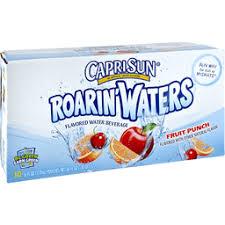 capri sun roarin waters flavored water beverage fruit punch