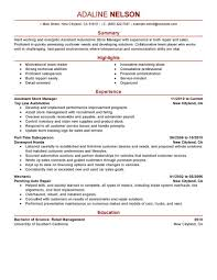 Assistant Store Manager Installation Repair Modern Retail Resume