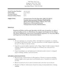 Sample Security Guard Resume Resume For Study