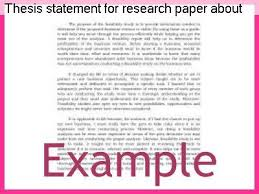 Thesis statement for depression essay