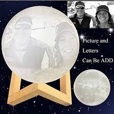 Custom Made Moon <b>Lamp</b>: Put (<b>Photo</b>, Text, Pattern) On The Moon ...
