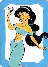 Princess Jasmine holding bird trading card Aladdin Disney gaming 2012#MM4  at Amazon's Entertainment Collectibles Store