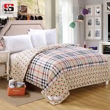 Aliexpress.com : Buy Sookie Summer Quilt 100% Cotton Quilted ... & Sookie Summer Quilt 100% Cotton Quilted Bedspread Plaid Print Thin Blanket  Throws Sofa Bed Air Adamdwight.com